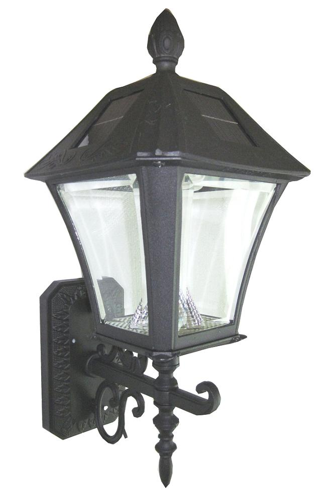Solar Wall Lantern Lights : Classic Design Baytown Solar Wall Mount Light